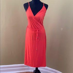Summer tie waist dress